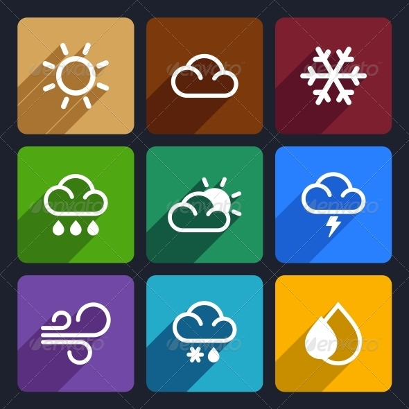 GraphicRiver Weather Flat Icons Set 27 6369368