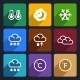 Weather Flat Icons Set 28 - GraphicRiver Item for Sale