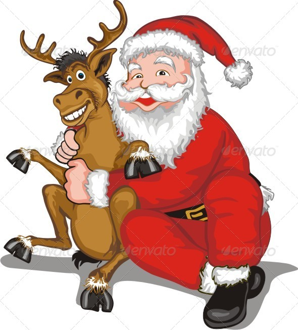 GraphicRiver Santa and Reindeer 6369535
