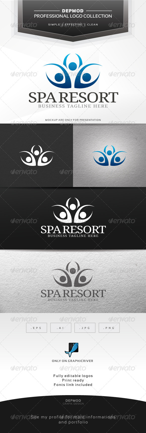 Spa Resort Logo - Humans Logo Templates