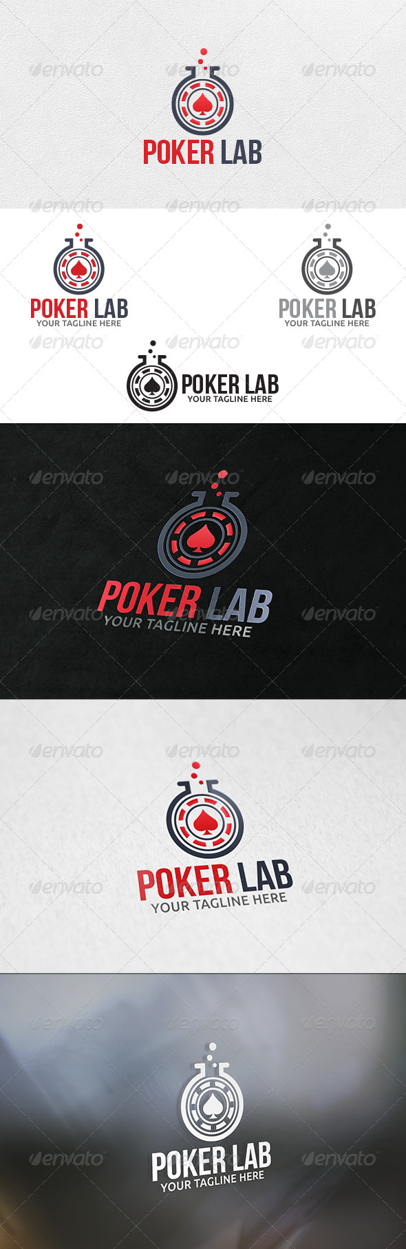 Poker Lab Logo Template