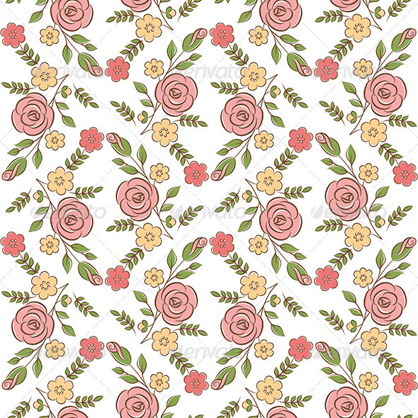 GraphicRiver Floral Seamless Pattern 6369760