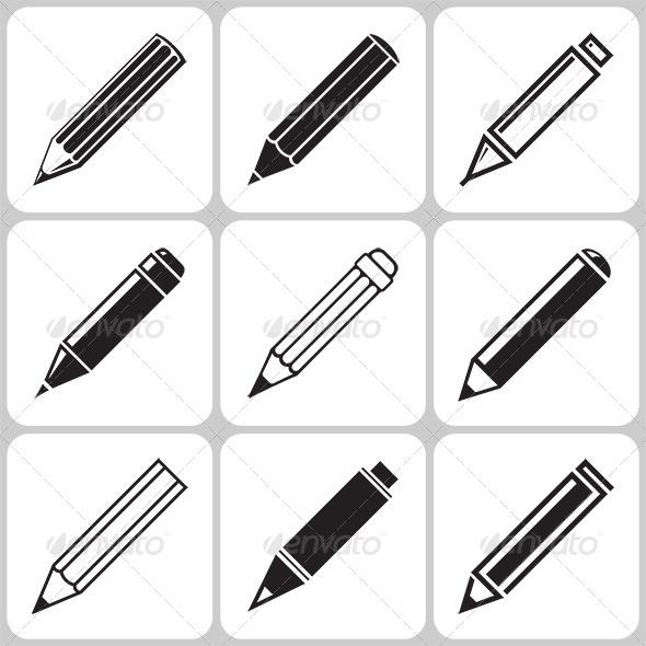 GraphicRiver Pencil Icons Set 6370179