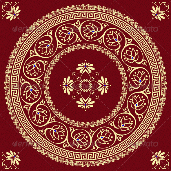 GraphicRiver Vector Traditional Vintage Gold Greek Ornament 6370209