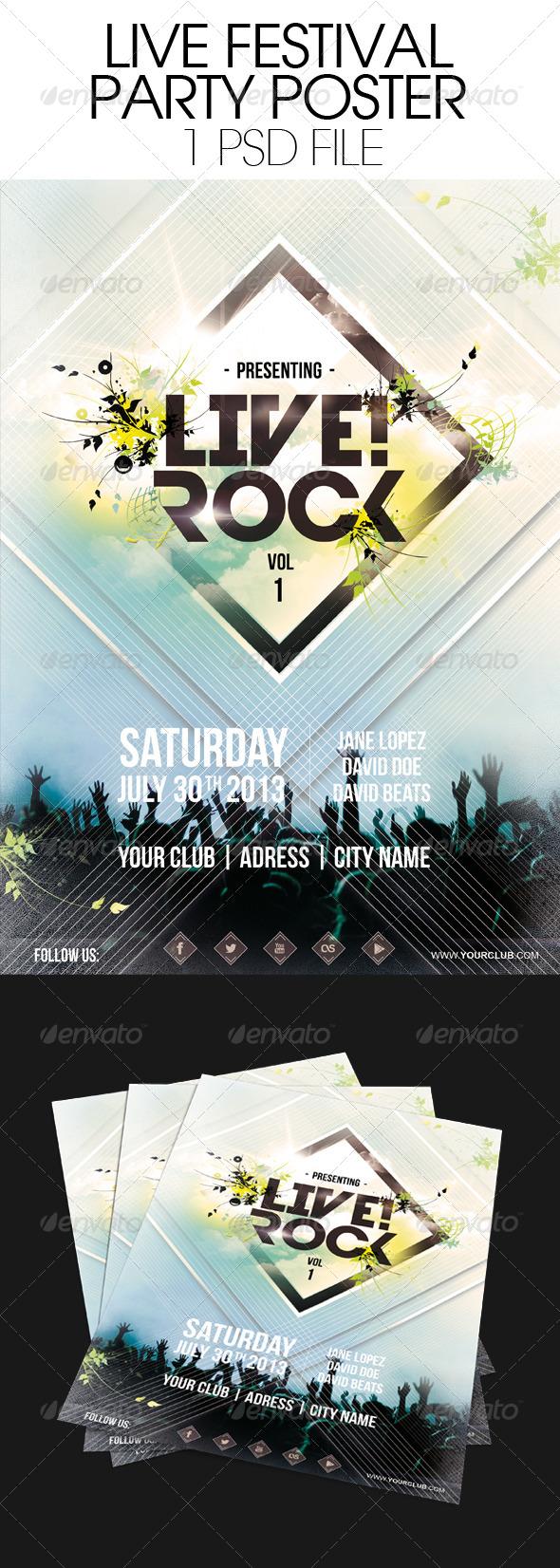 GraphicRiver Live Festival Poster 6370397