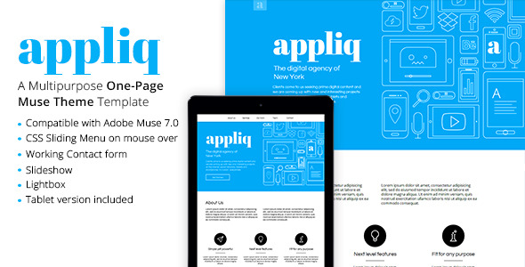 Appliq - One Page Muse Theme