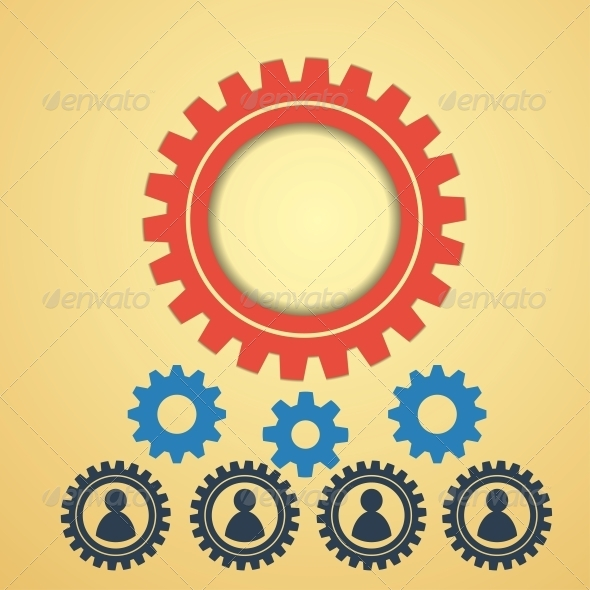 GraphicRiver Gears on a Creative Background 6370438