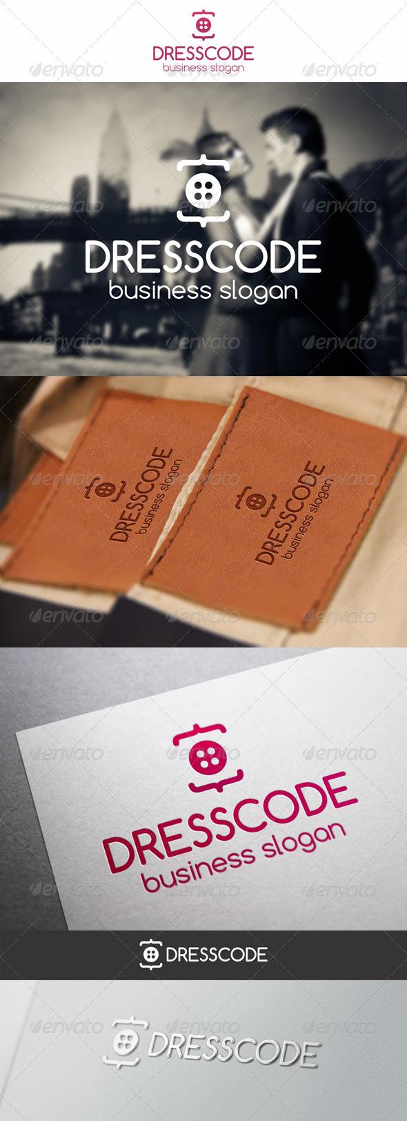 GraphicRiver Dress Code Clothing Logo 6370470
