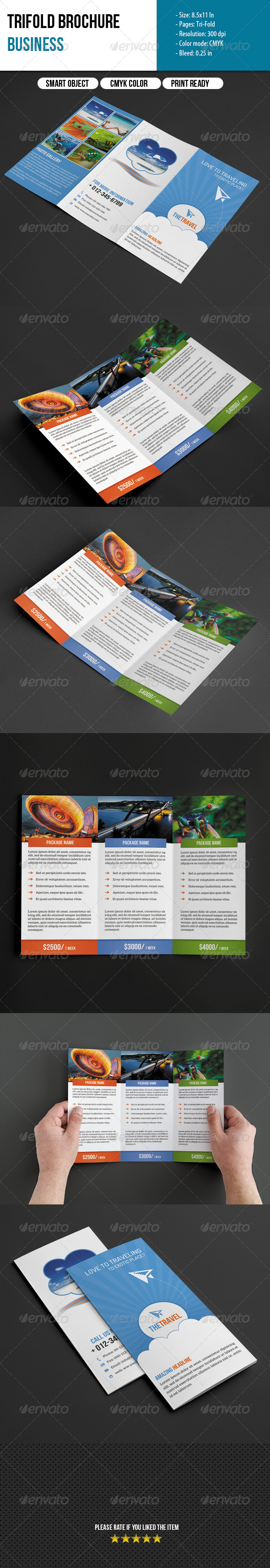 GraphicRiver Trifold Brochure-Travel Business 6370488