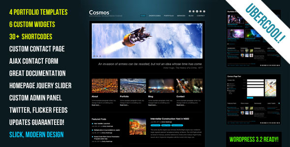 Cosmos - Creative WordPress Theme - Cosmos - a well balanced, multi-purpose Premium WordPress Theme.