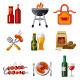 Barbecue Icon Set - GraphicRiver Item for Sale