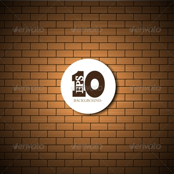 GraphicRiver Vector Brick Wall Background 6370530