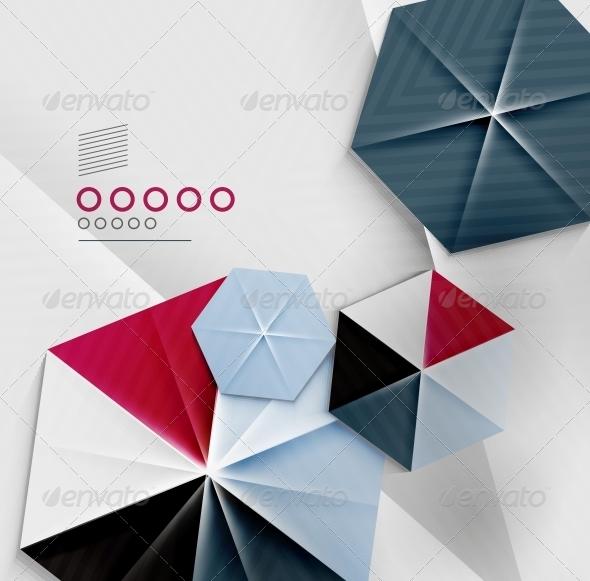 GraphicRiver Hexagon Business Paper Geometric Shape 6370598