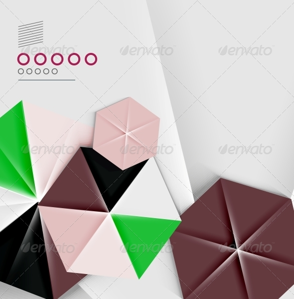 GraphicRiver Hexagon Business Paper Geometric Shape 6370600