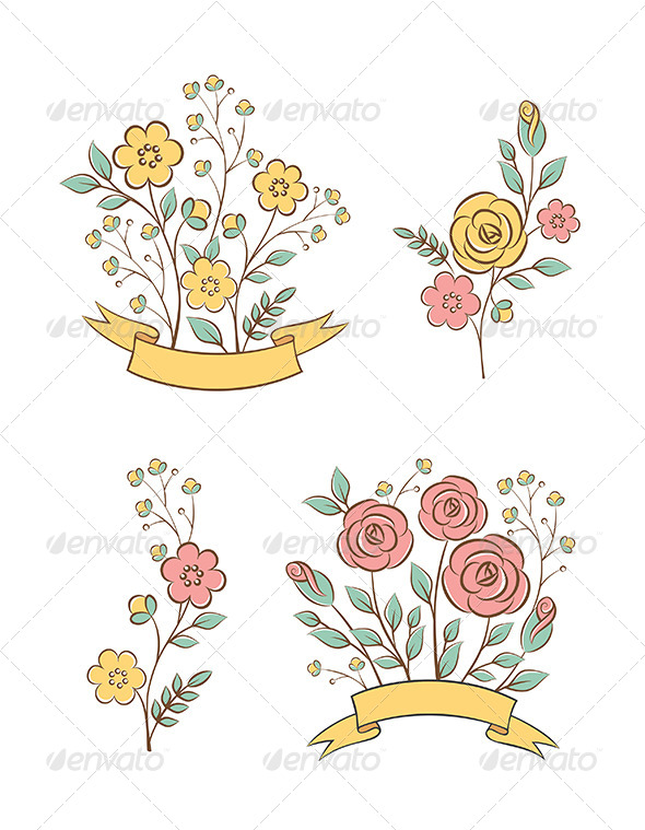 GraphicRiver Floral Graphic Elements 6370720