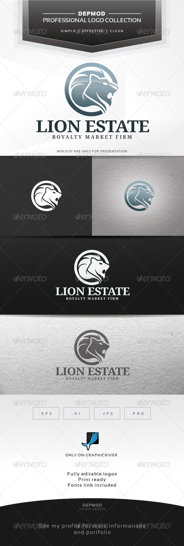 GraphicRiver Lion Estate Logo 6370756
