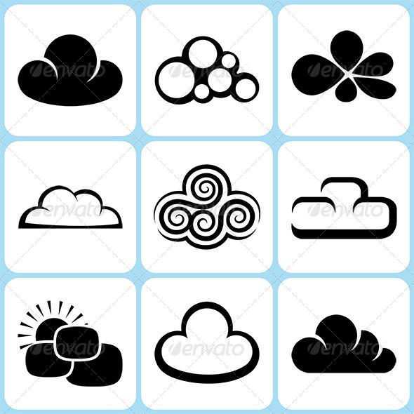 GraphicRiver Cloud Icons Set 6370779