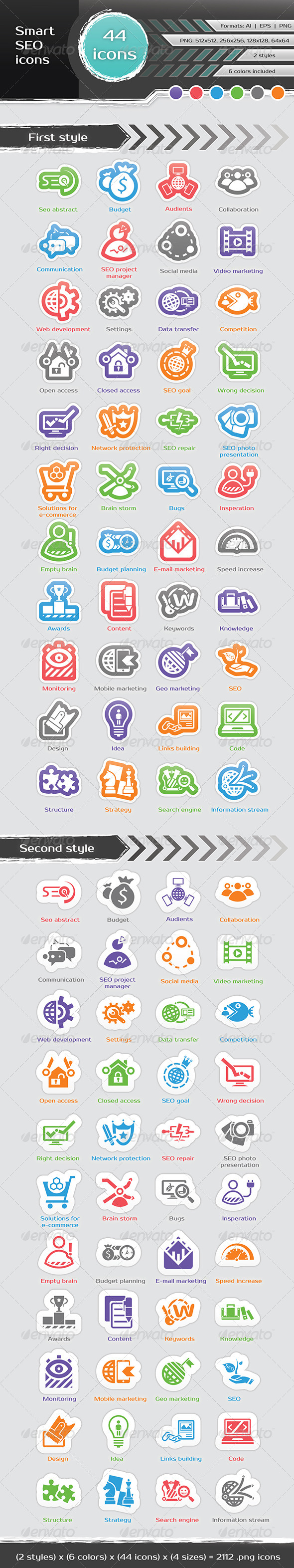 GraphicRiver Smart SEO Icons 6370809