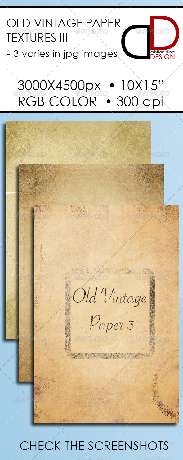 GraphicRiver Old Vintage Paper Texture III 6371067