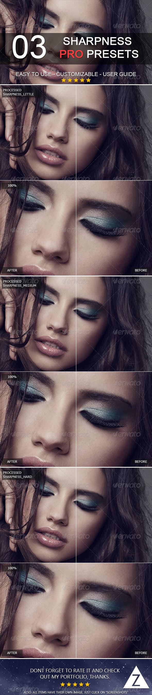 GraphicRiver 3 Pro Sharpness Presets 6371402
