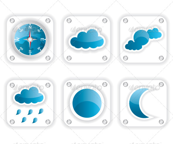 GraphicRiver Weather Icons Illustration 6371410