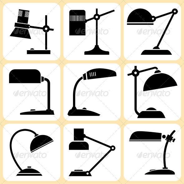 GraphicRiver Lamps Set 6372100