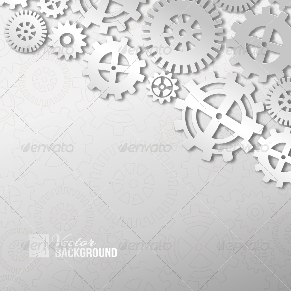 GraphicRiver Abstract Gear Wheels 6372113
