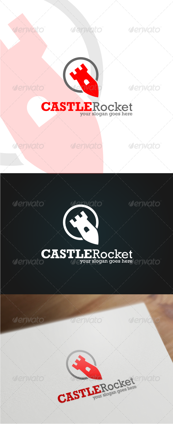 GraphicRiver Castle Rocket Logo Template 6372380