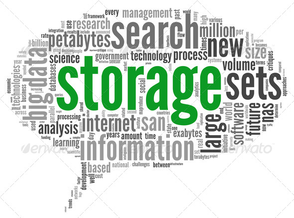 Storage concept in word cloud - Stock Photo - Images