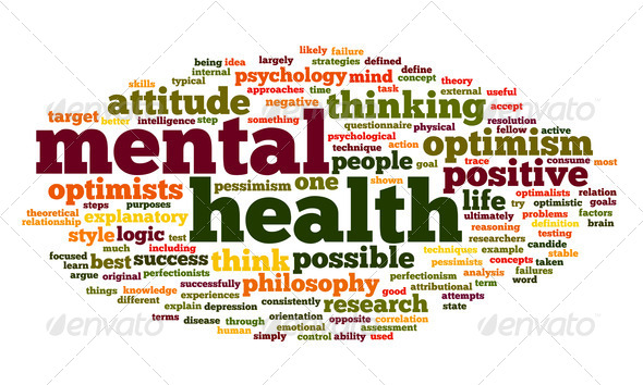 Mental health in word tag cloud - Stock Photo - Images