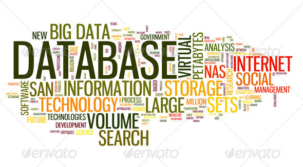 Database concept in word cloud - Stock Photo - Images