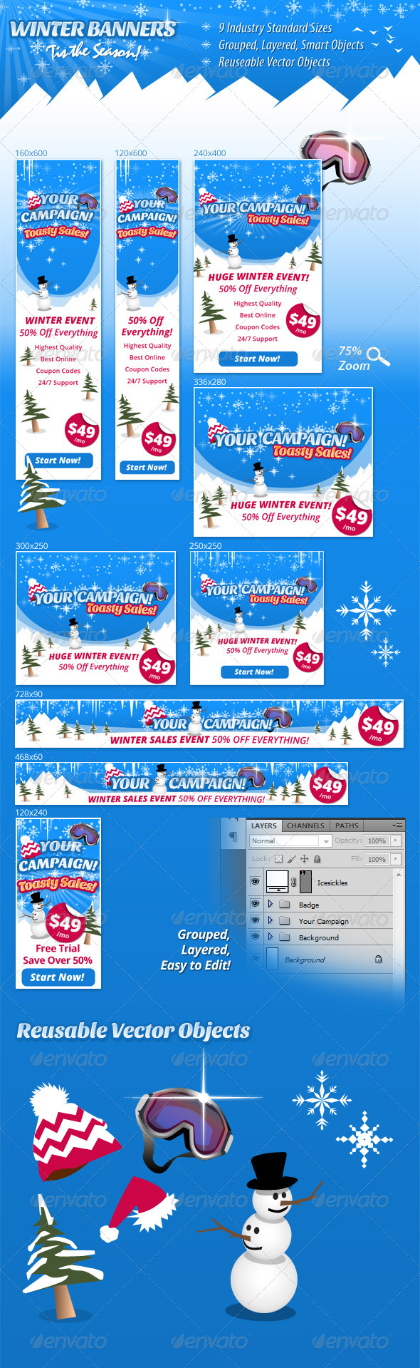 GraphicRiver Winter Banners 6372647