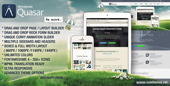 ThemeForest Quasar Wordpress Theme with Animation Builder 6126939