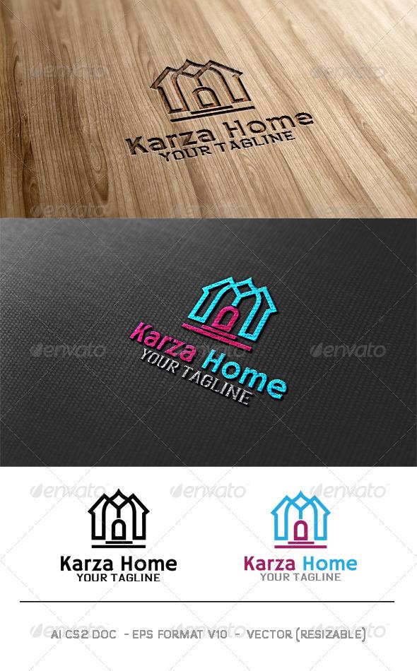 GraphicRiver Karza Home Logo 6372678