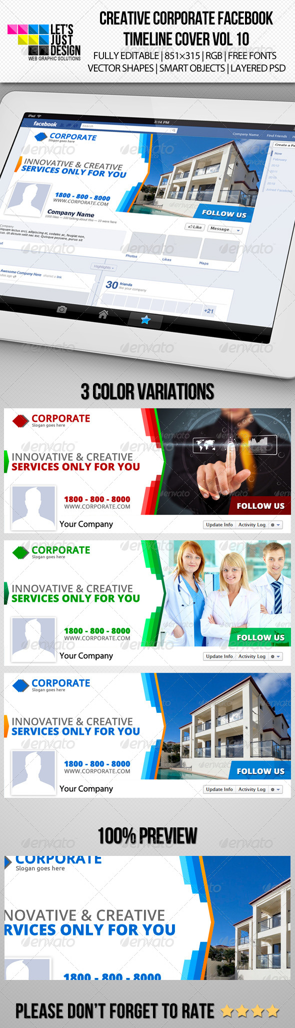 GraphicRiver Creative Corporate Facebook Timeline Cover Vol 10 6372809