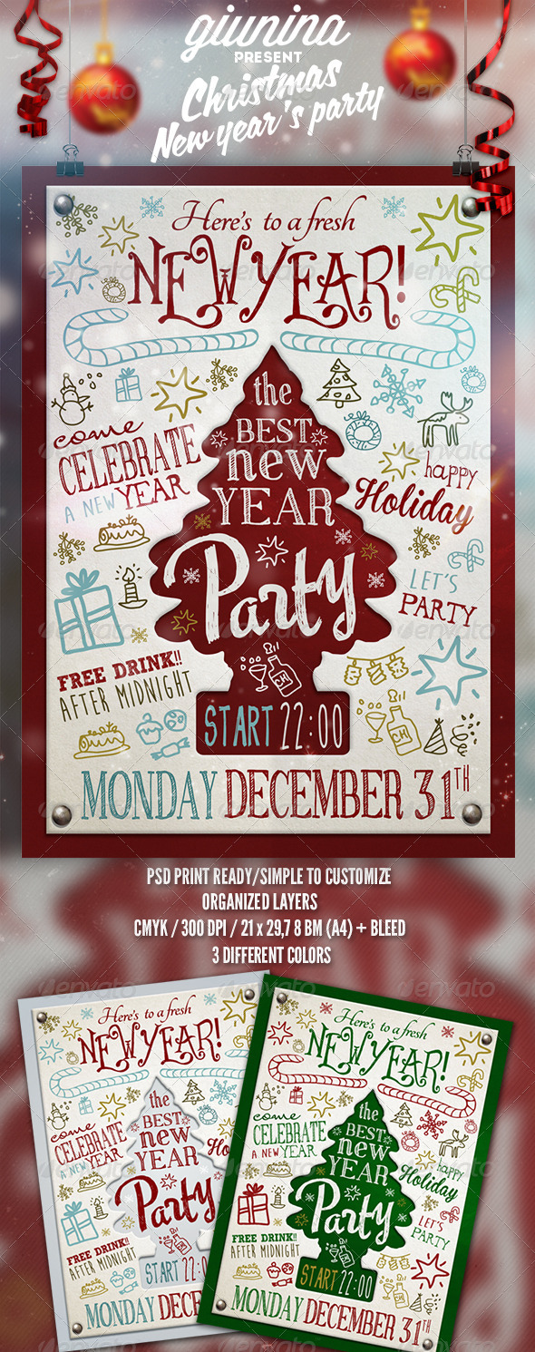 GraphicRiver Christmas New Year s Party Flyer Poster 6372814