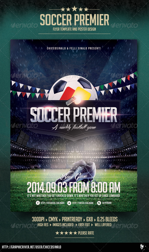 GraphicRiver Soccer Premier Flyer Template 6372825
