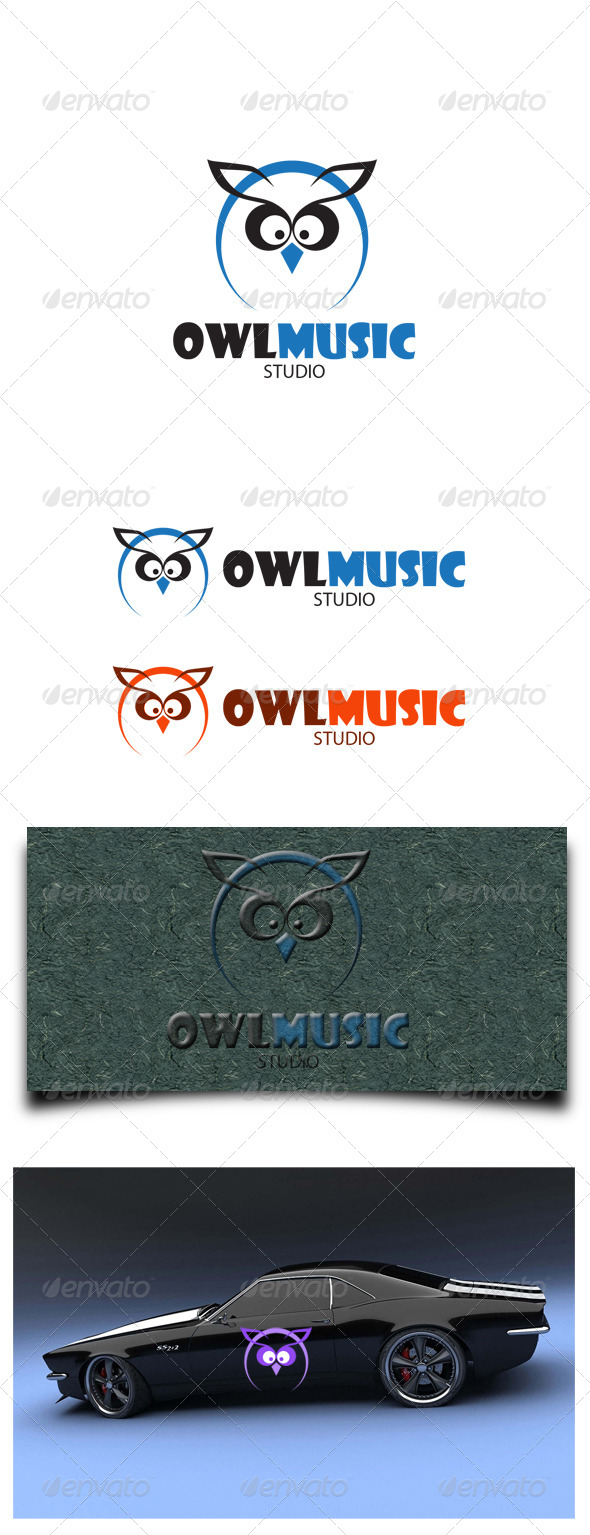 GraphicRiver Owl Music Studio 6372838