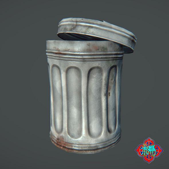 3DOcean Trash can Lowploy version 6372905