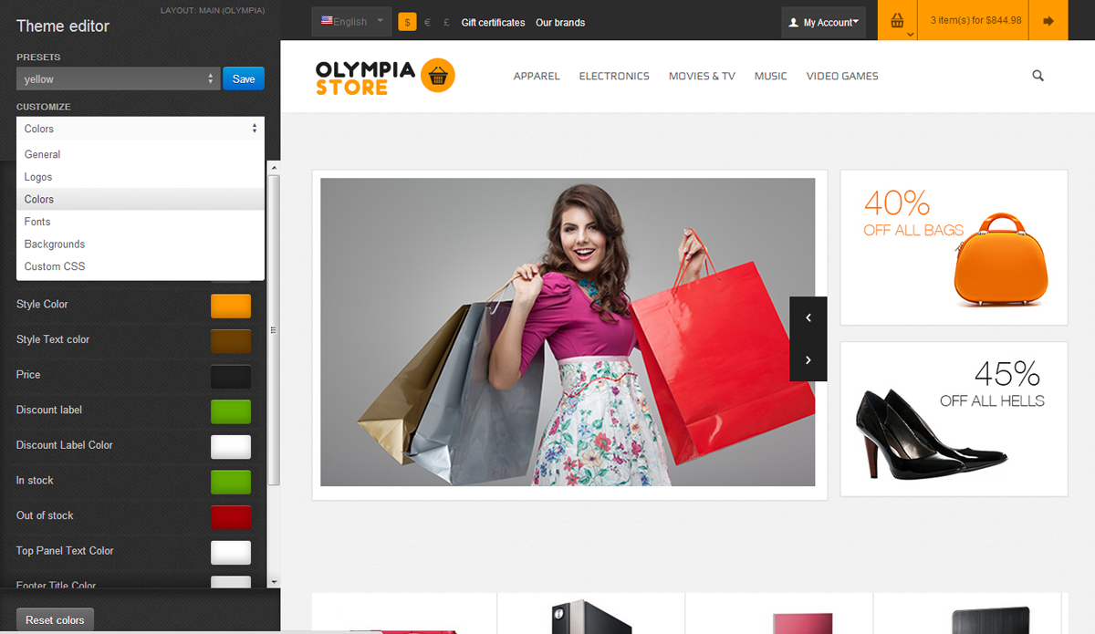Olympia - Premium Responsive CS-Cart Theme