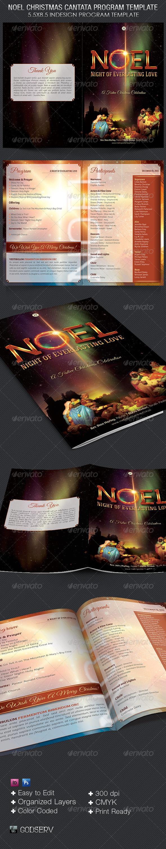 GraphicRiver Noel Christmas Cantata Program Template 6373041