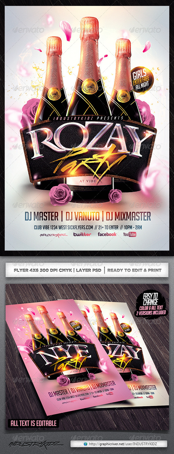 GraphicRiver Rozay Flyer Template 6373145