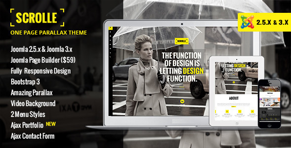 ThemeForest Scrolle Responsive One Page Joomla Template 6368363