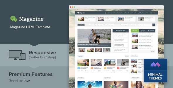 Magazine – Responsive Multipurpose HTML Template (Business) images