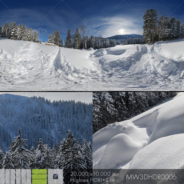 MW3DHDR0006 Snowy Winter Scene in Black Forest - 3DOcean Item for Sale