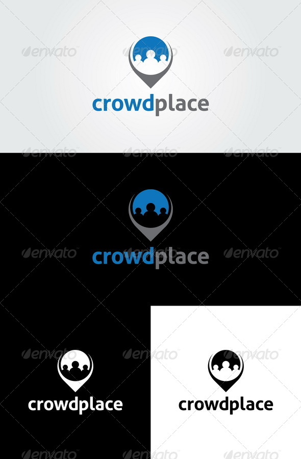 GraphicRiver Crowd Place Logo Template 6374072