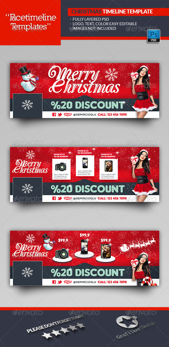 Christmas Discount Timeline Template
