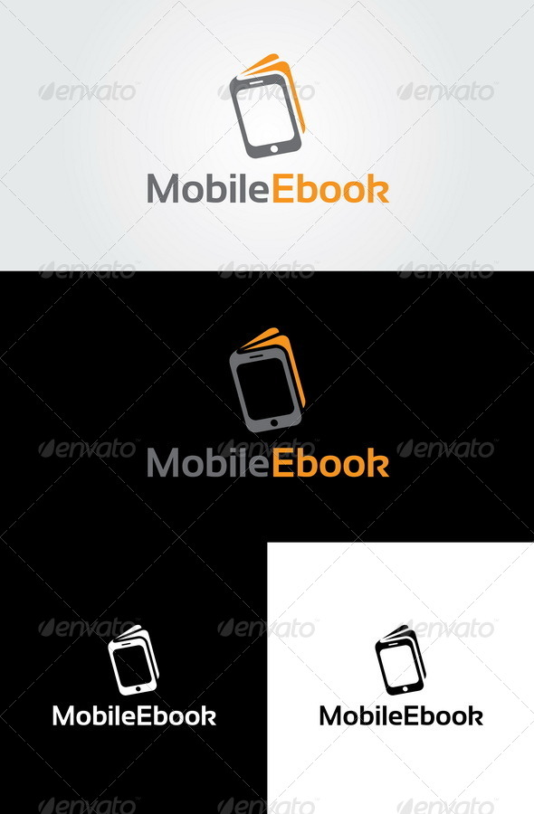 Mobile Ebook Logo Template | GraphicRiver