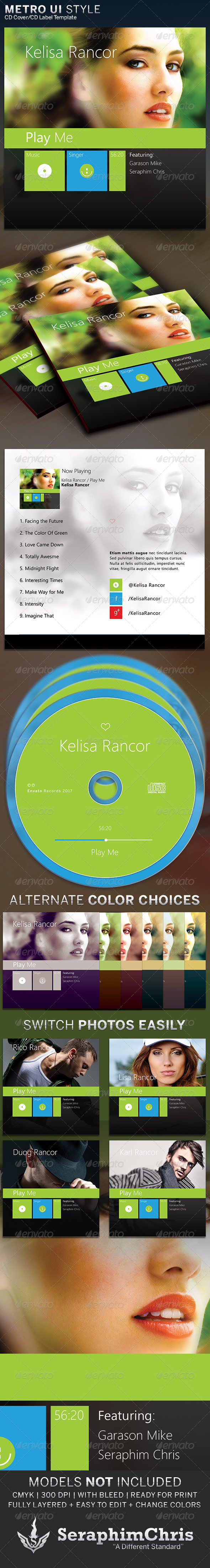 GraphicRiver Metro UI Style CD Cover Artwork Template 6374318