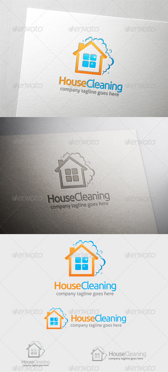GraphicRiver House Cleaning Logo 6374319